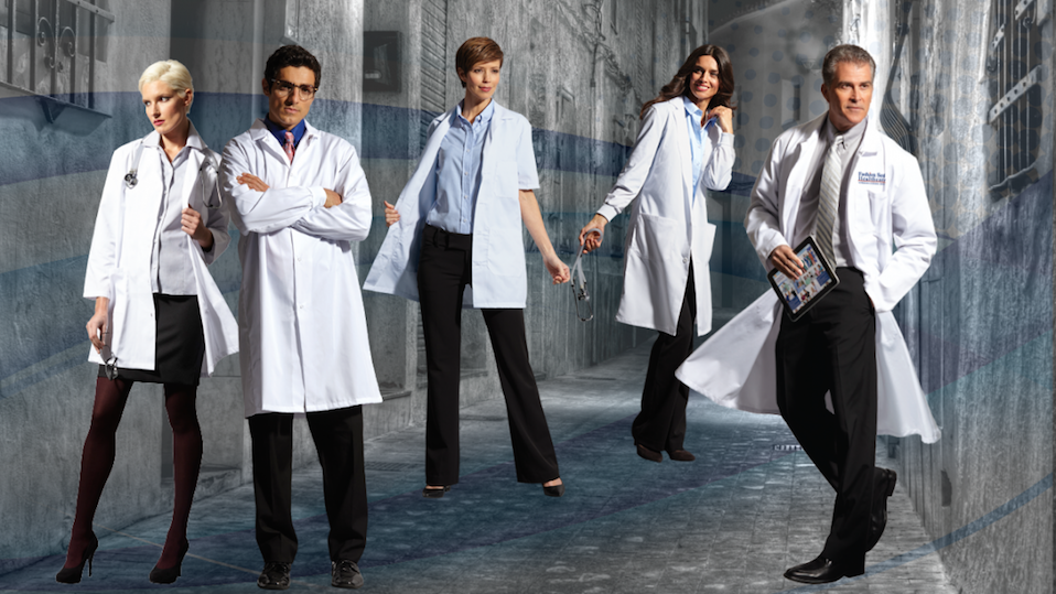 Lab Coats Fashion Seal Health Care