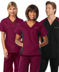 Healthcare uniforms which identify employees for patient safety